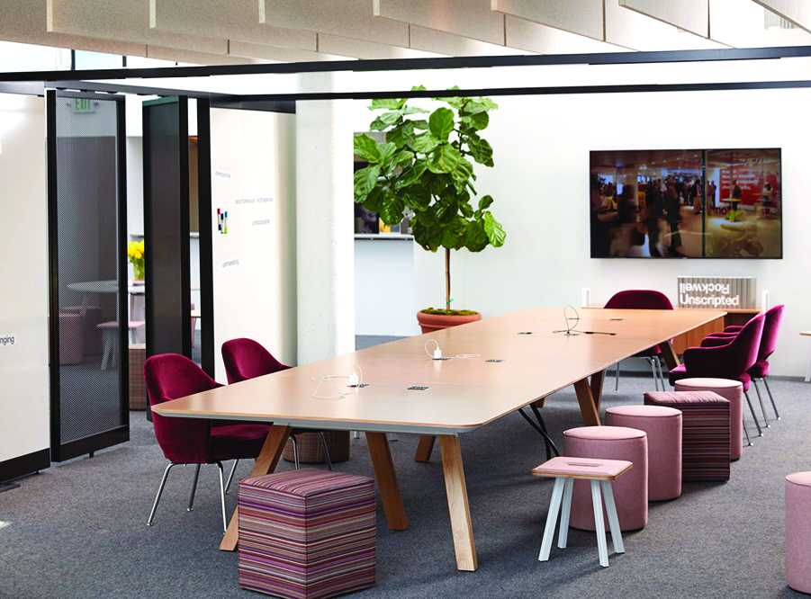 This Is An Open Office Space Collaboration Area Featuring Rockwell Library  Tables And Seating By Knoll, From Dorothy Rogers Bullis Of Drb Office  Interiors.