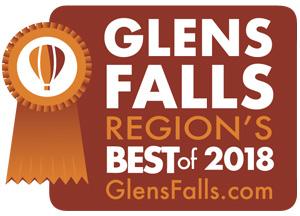 glens falls region's best badge