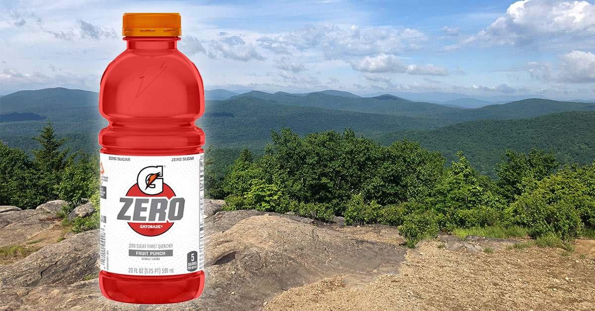 image of gatorade on a hiking photo