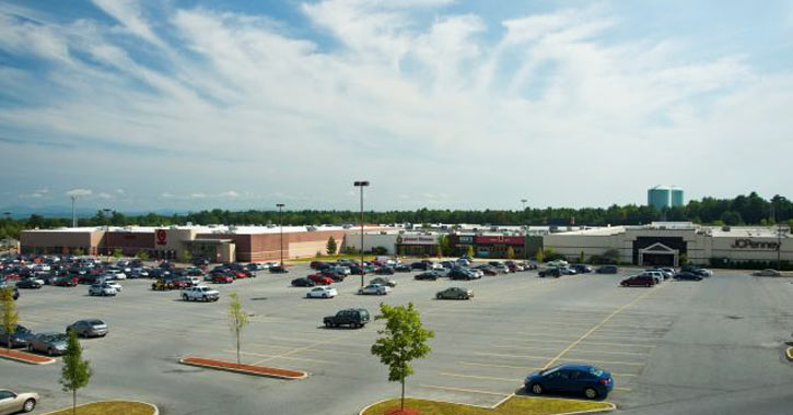 parking lot and exterior of aviation mall