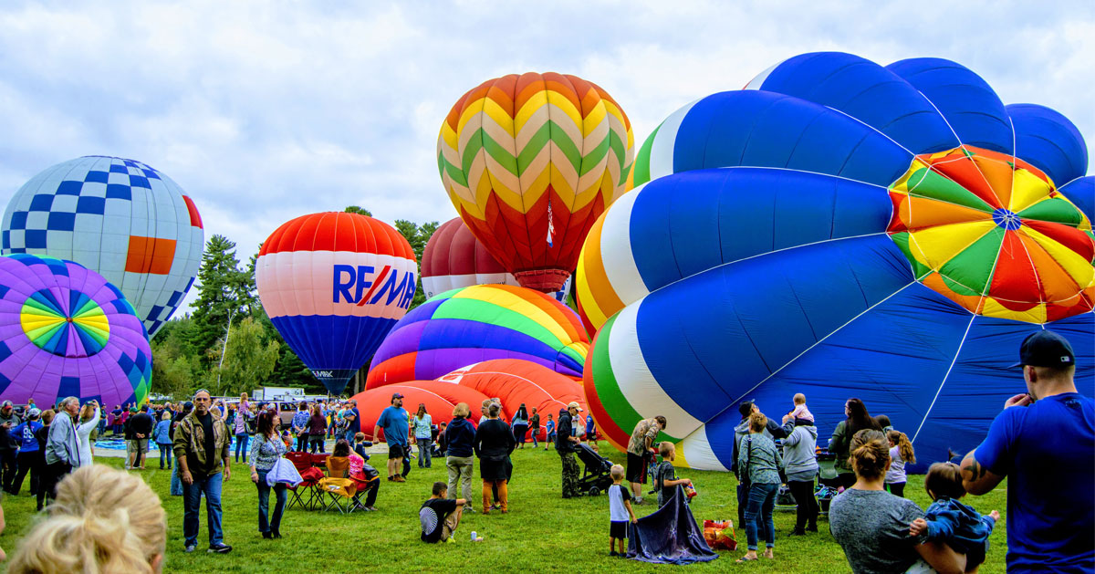 people at the balloon festival