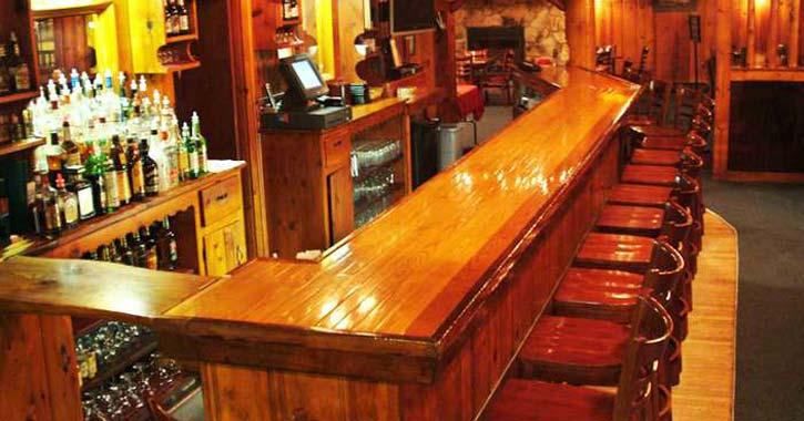 bar at the longhorn pub