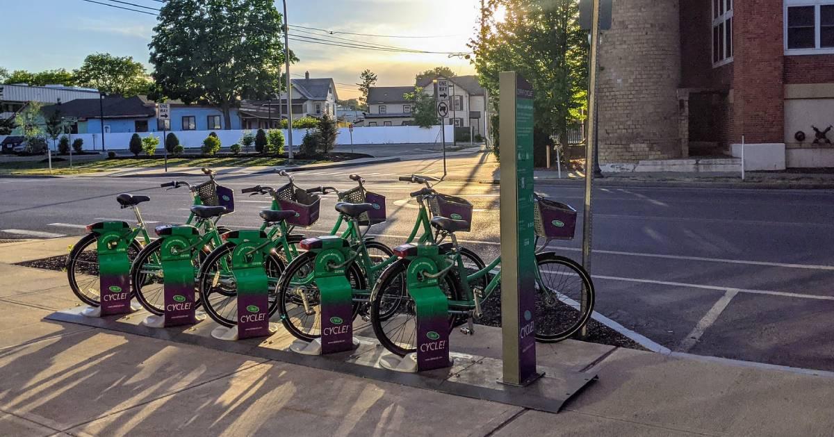 CDPHP bikes, sunset