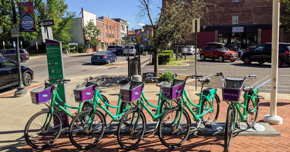 CDPHP bikes and Glens Falls street