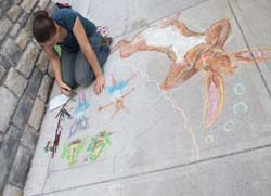 Chalk Fest 2010 in downtown Glens Falls NY