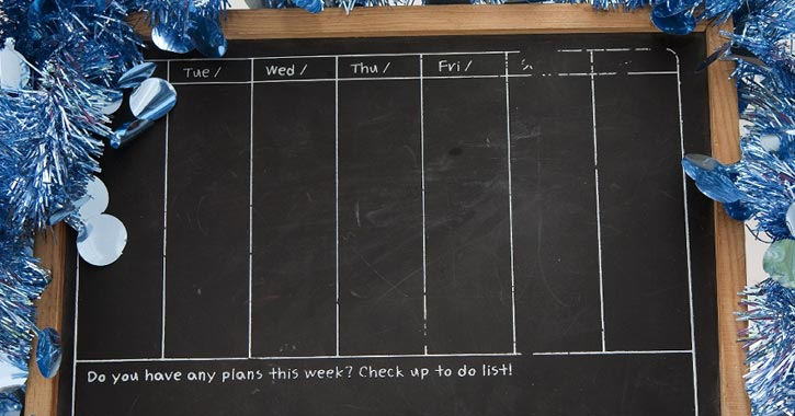 a checklist blackboard