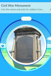 civil war monument pokestop