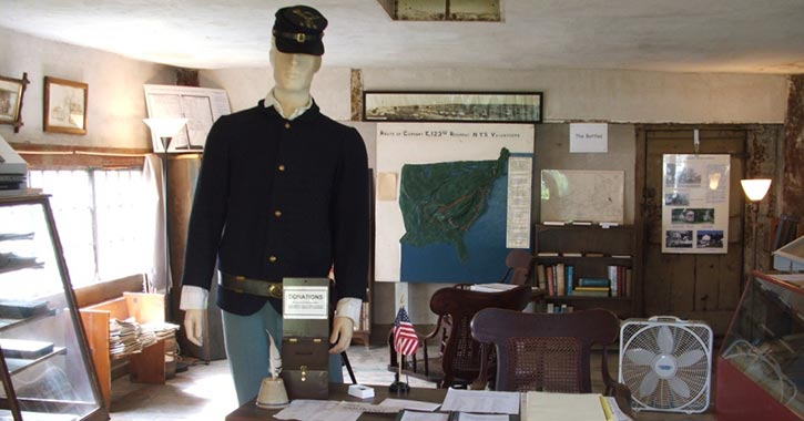 civil war exhibit in museum