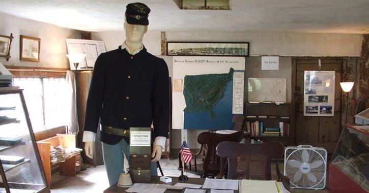 civil war exhibit in museum