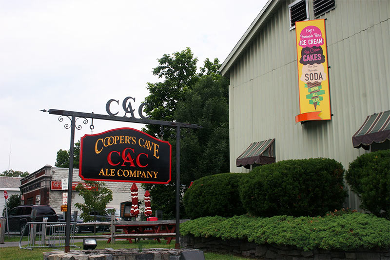 exterior of Cooper's Cave Ale Company