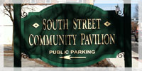 South Street Community Pavilion Sign in downtown Glens Falls