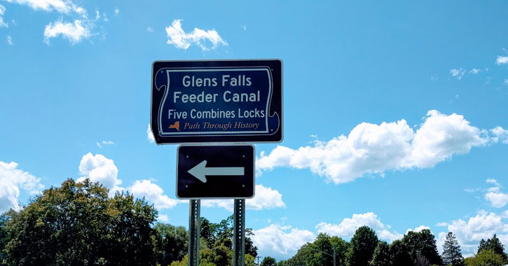 a sign for the Feeder Canal