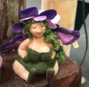 a fiber art doll