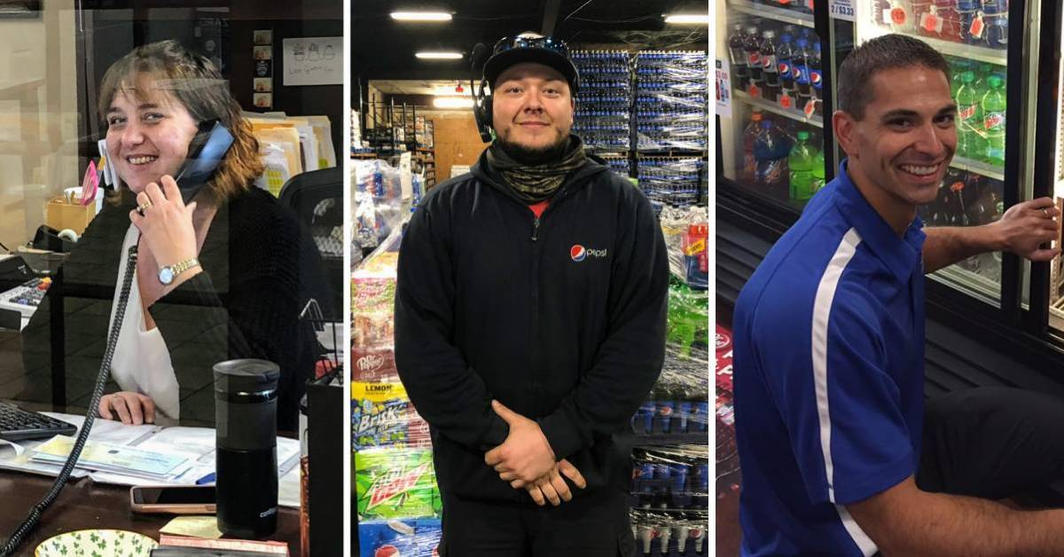 image split n three of employees