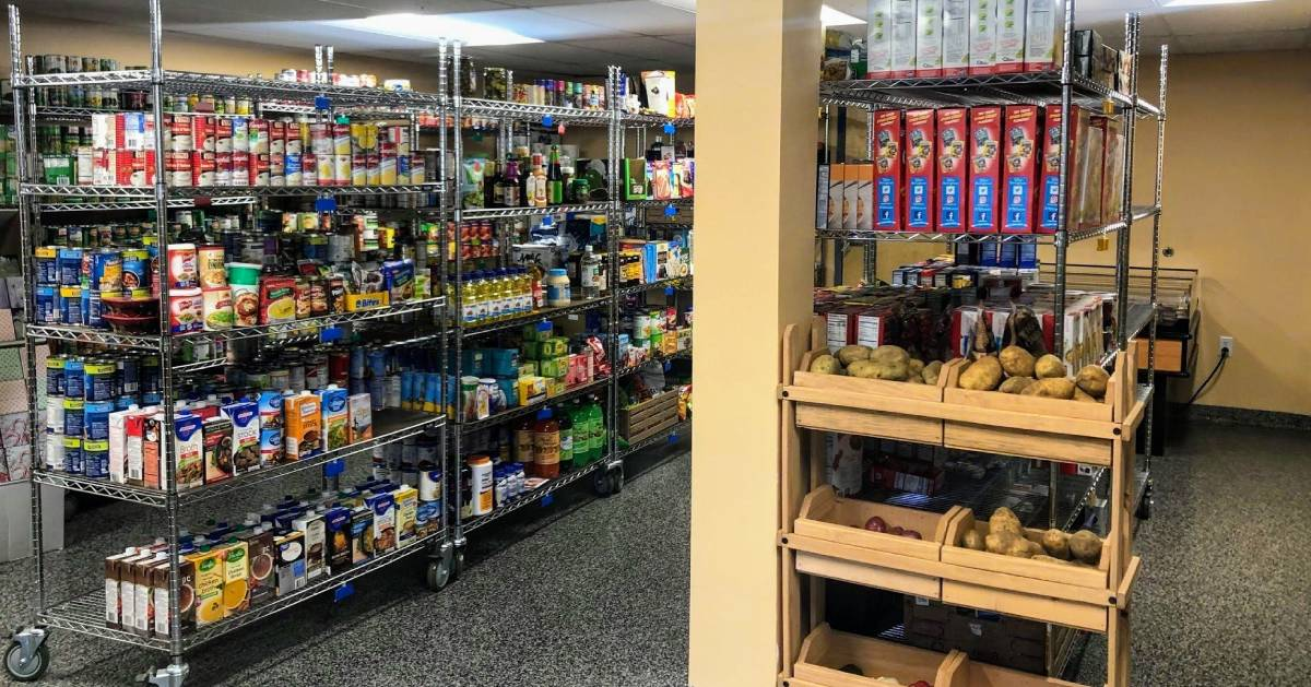 food pantry area