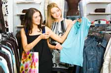 Girls Shopping in Glens Falls NY