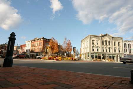 Downtown Glens Falls in the Fall