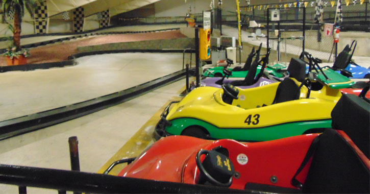 close up of go karts
