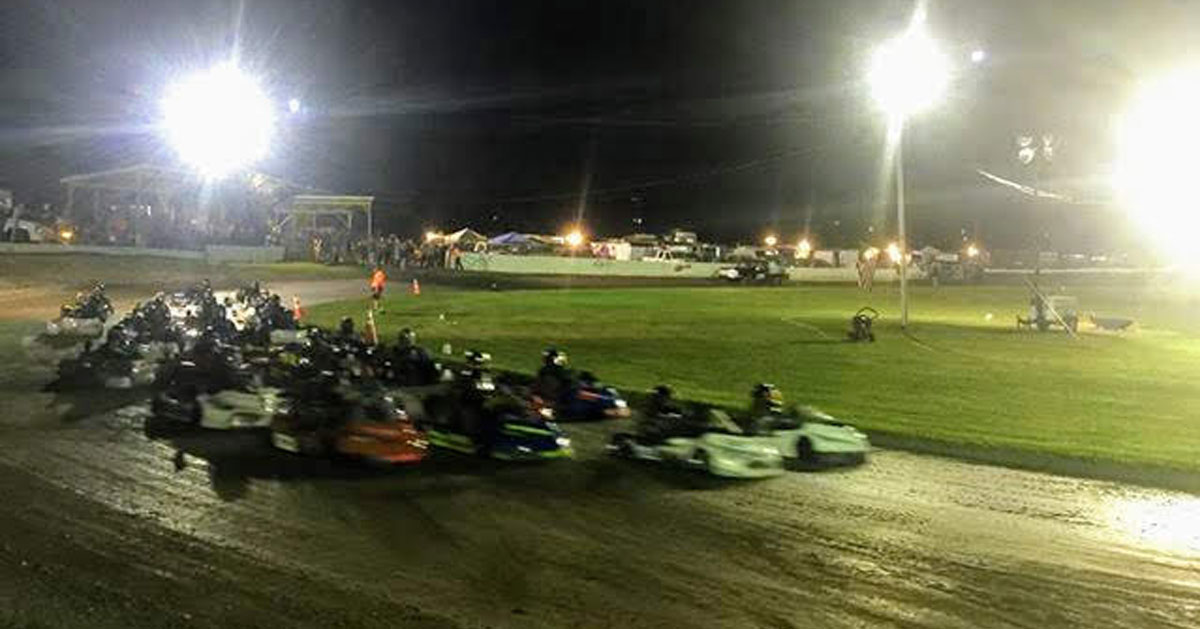 go-kart racing in progress