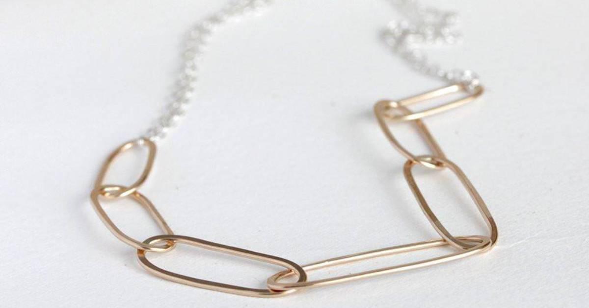 pretty gold chain necklace