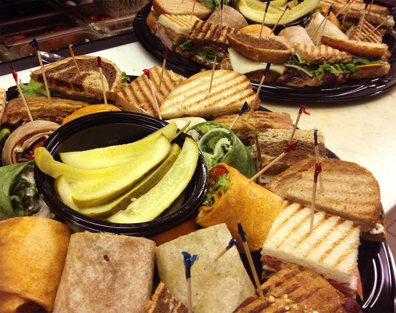 catered sandwiches from Gourmet Cafe