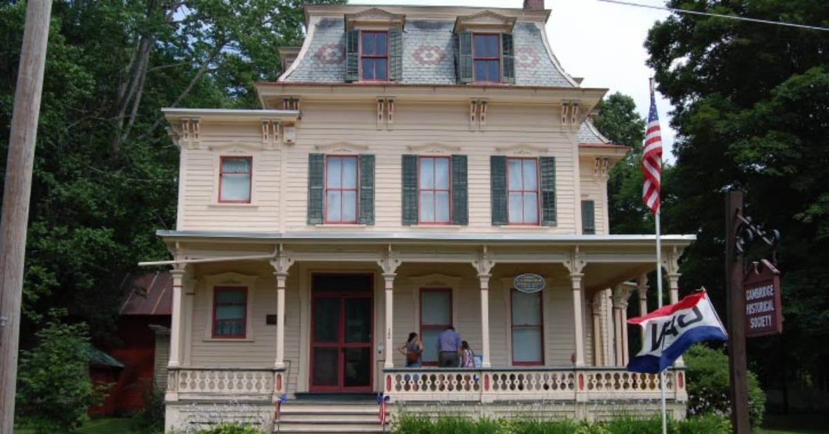 the front of a historic house
