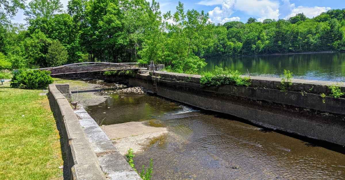 a feeder canal and a bridge