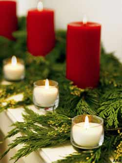 Holiday Candles and Decorations