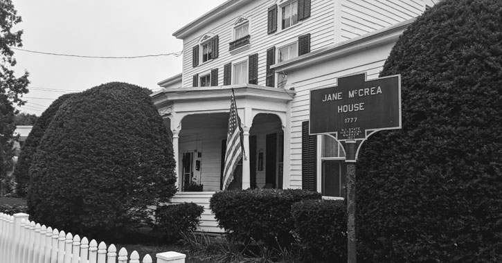 Jane McCrea House, black and white image