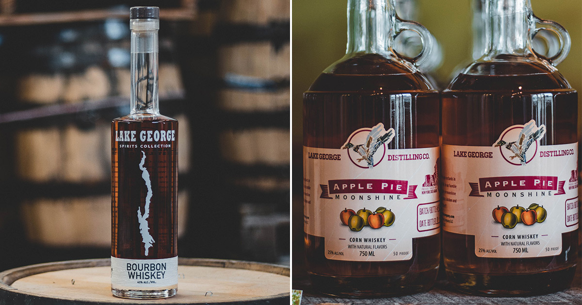 two different lake george distilling products