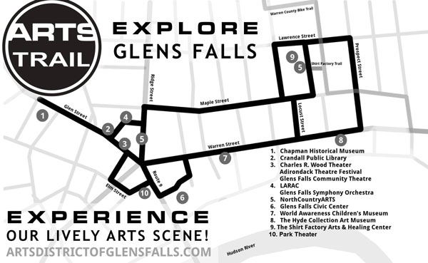 glens falls art trail map