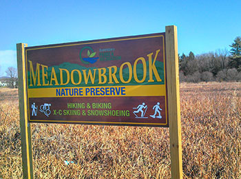 Meadowbrook nature preserve sign