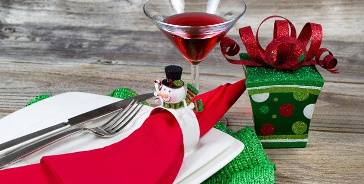 a holiday meal setup