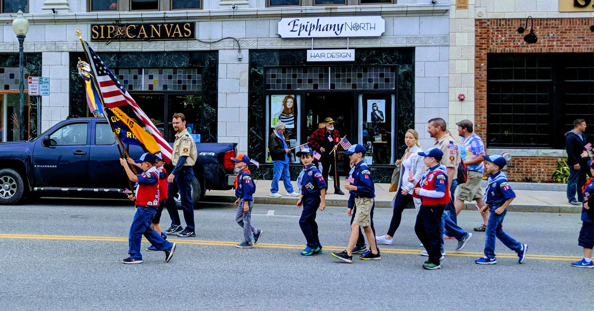 kids marching in parade