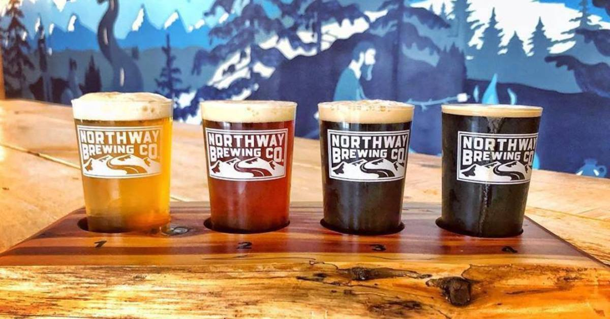 four craft beers