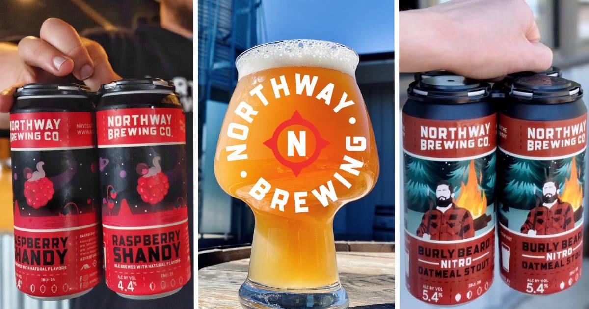 image split in three of Northway Brewing beer