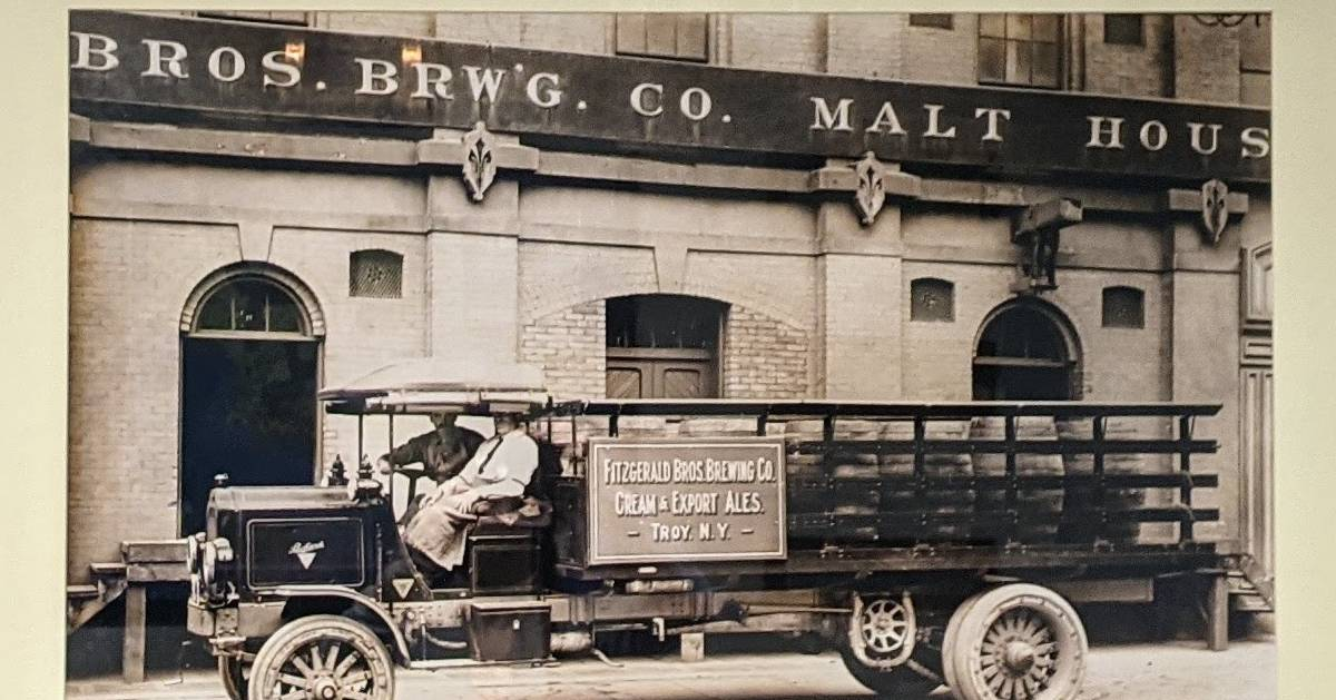 old photo of a beverage truck