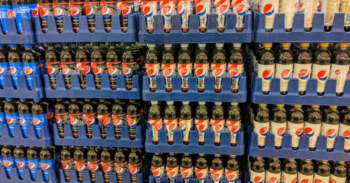 Pepsi products in cases
