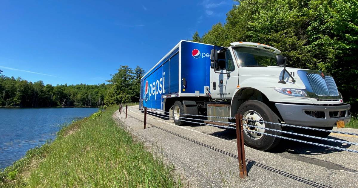 Pepsi truck drives