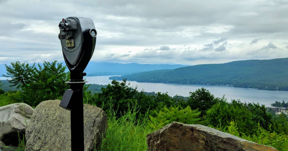 view finder on mountain