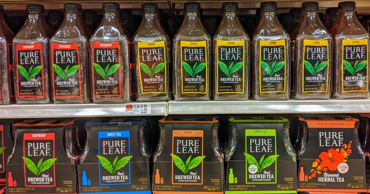 Pure Leaf Tea on the shelf