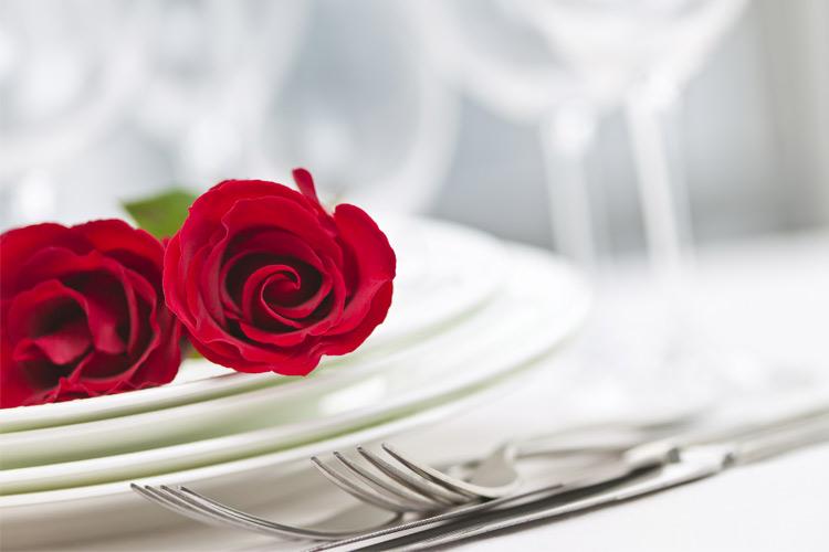 romantic plate roses
