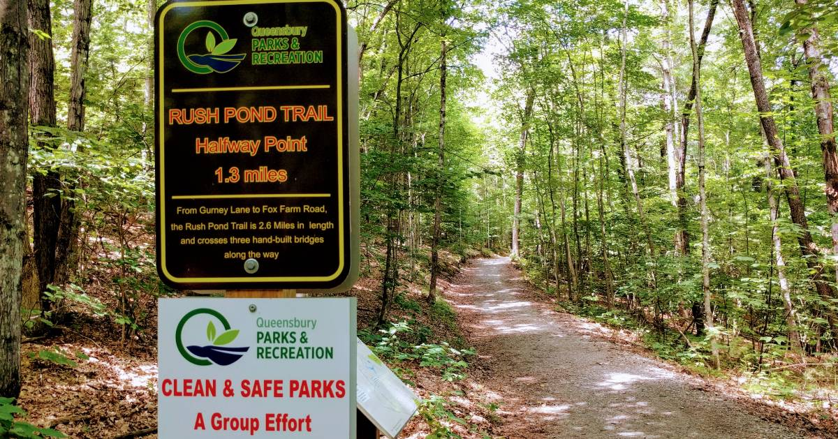 Rush Pond Trail signs