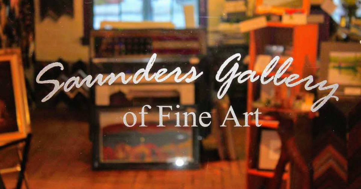 Saunders Gallery window