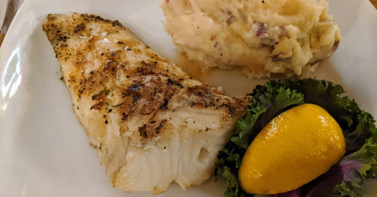 sea bass dinner