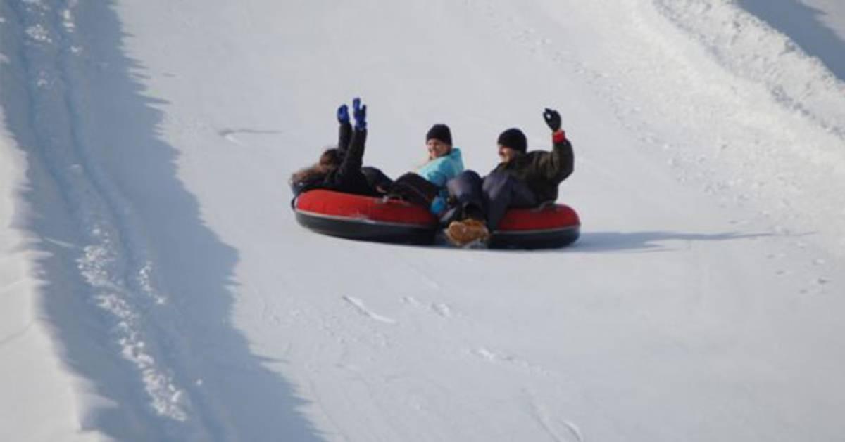 people tubing at willard mountain