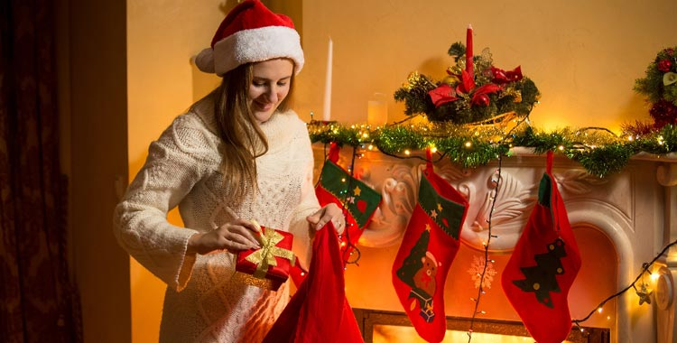stuffing stockings for christmas