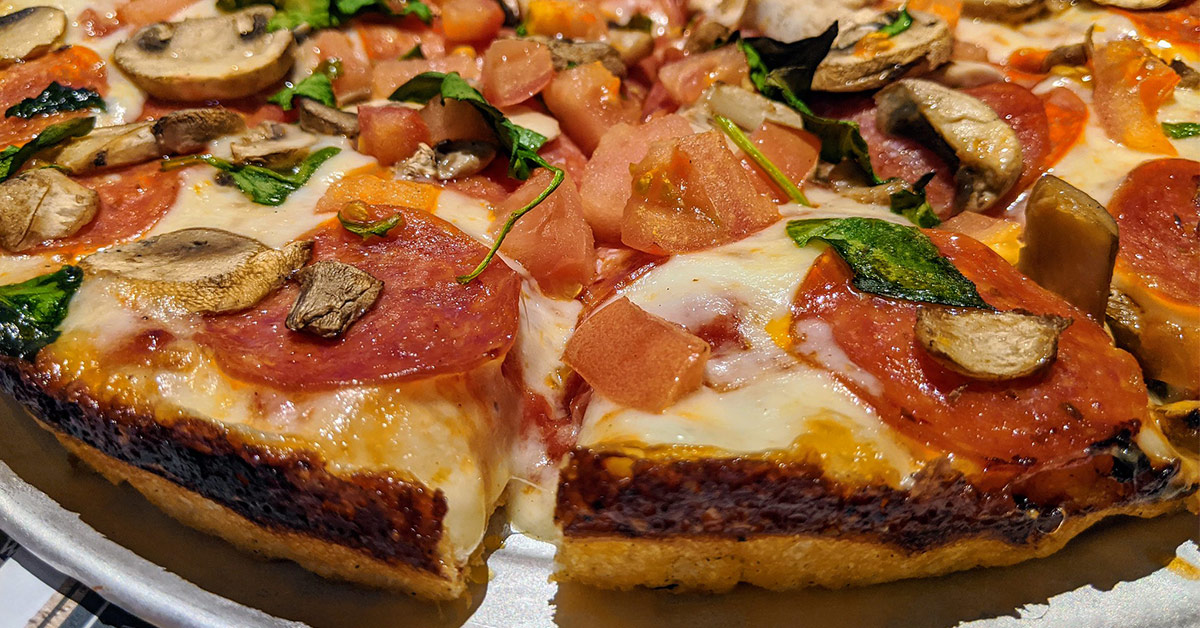 pizza with lots of toppings