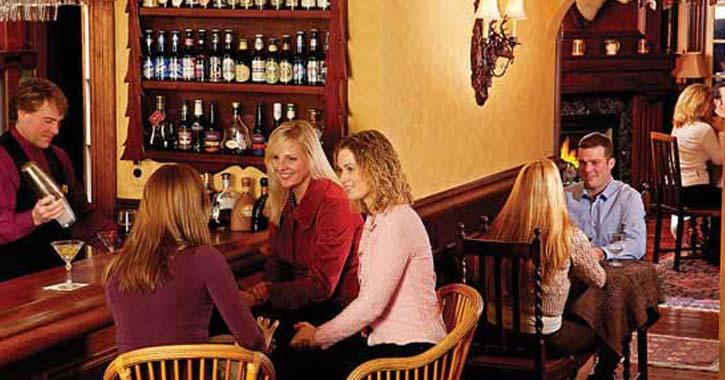 bar room at taste bistro