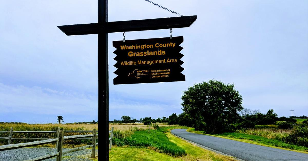 sign for the washington county grasslands